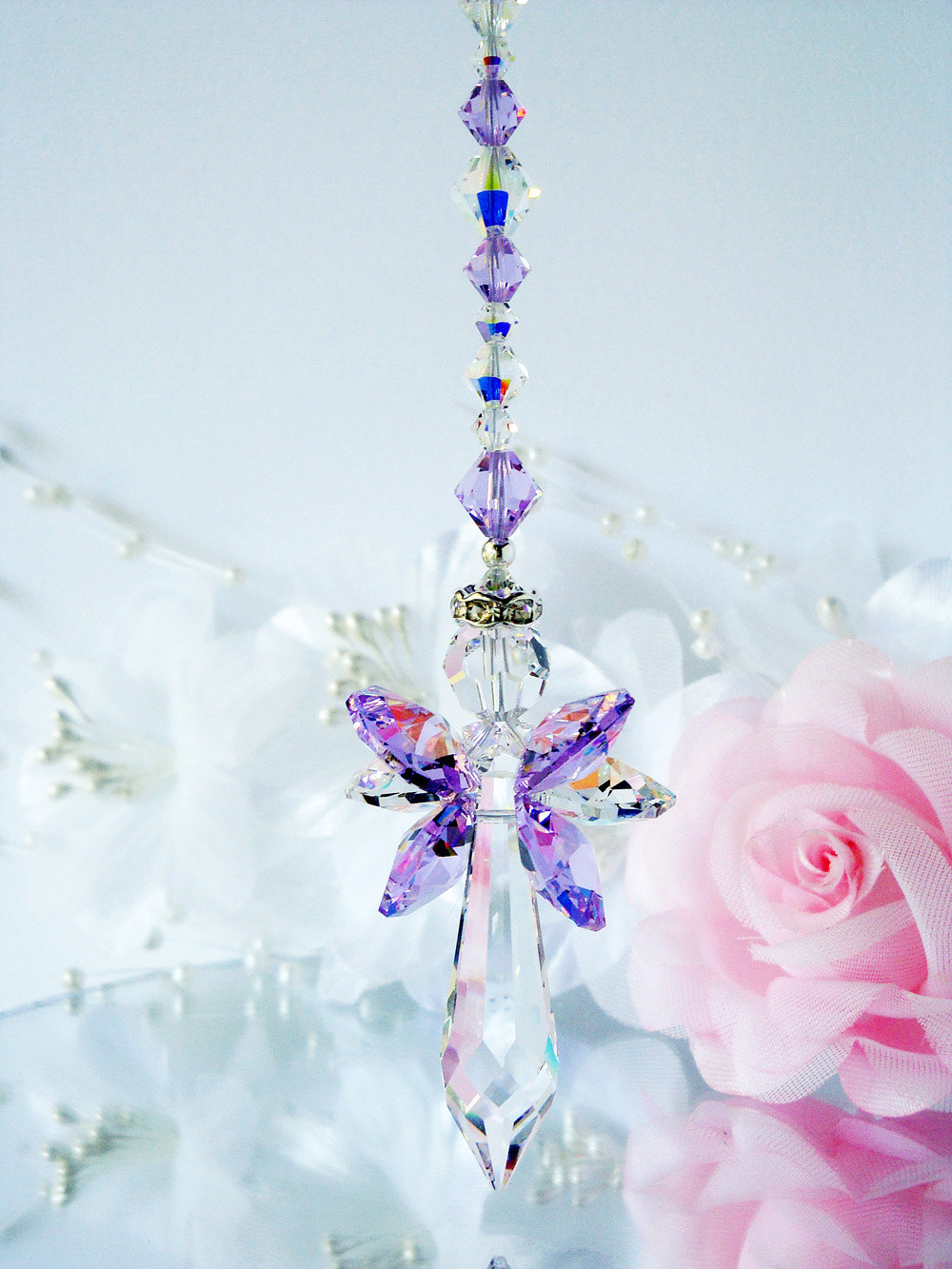 Guardian Angel Crystal Suncatcher Crystal Blue Designs