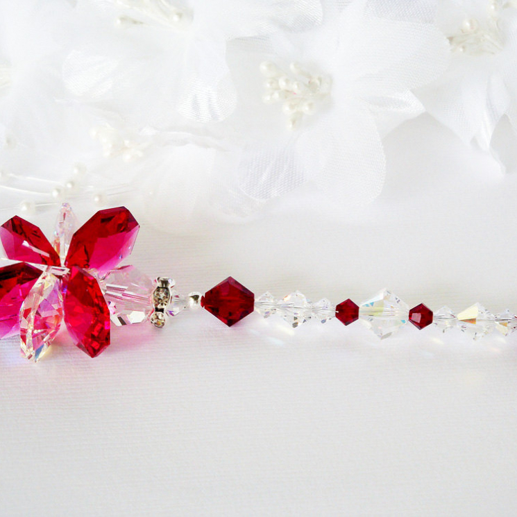 red swarovski crystal suncatcher