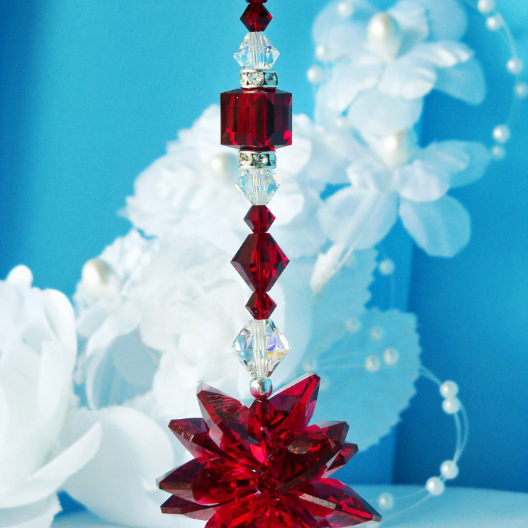 red crystal suncatcher