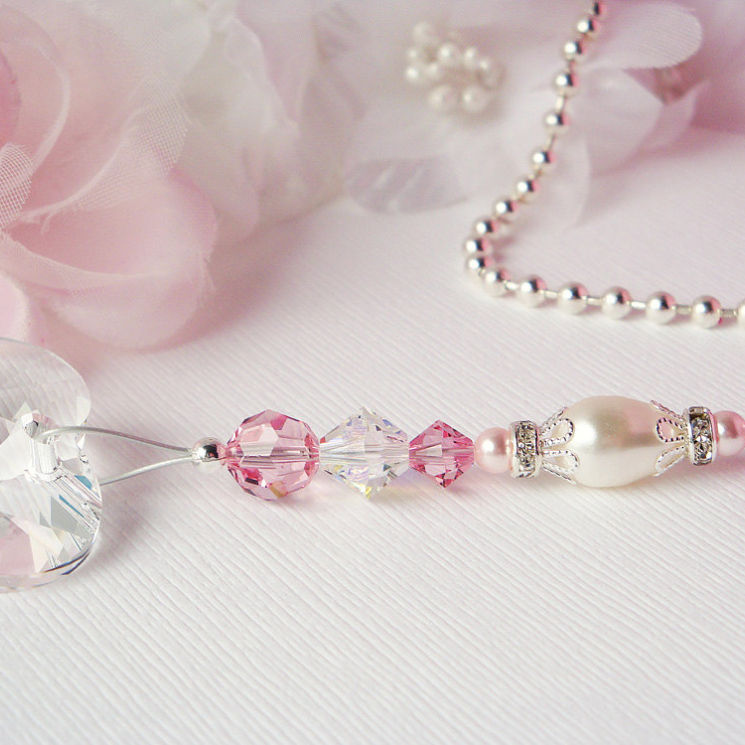 Swarovski Crystal and Pearl Fan Pull Chain