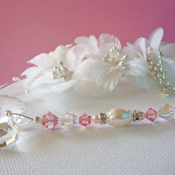 Pink Crystal Ceiling Fan Pull