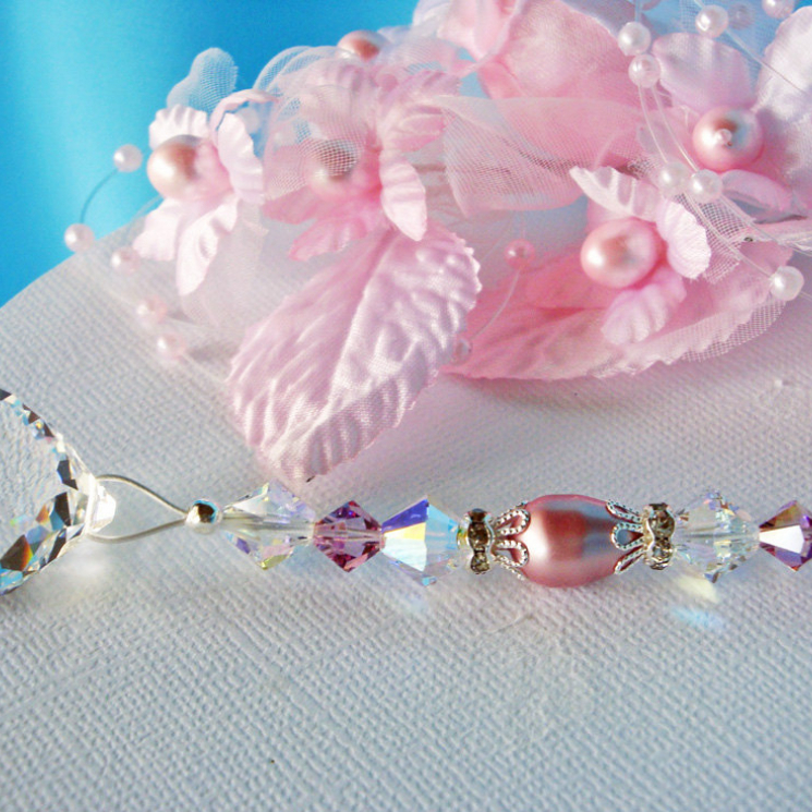pink and purple ceiling fan pull chain