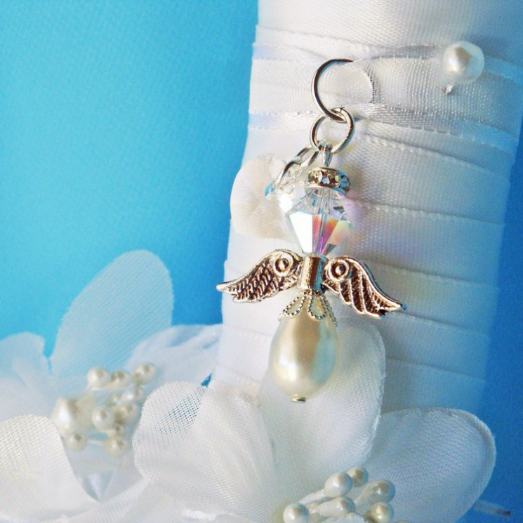angel bouquet charm