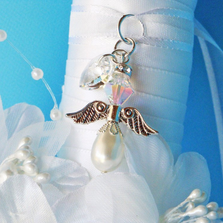 angel for wedding bouquet