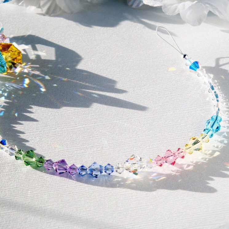 Swarovski Crystal Rainbow Angel Suncatcher