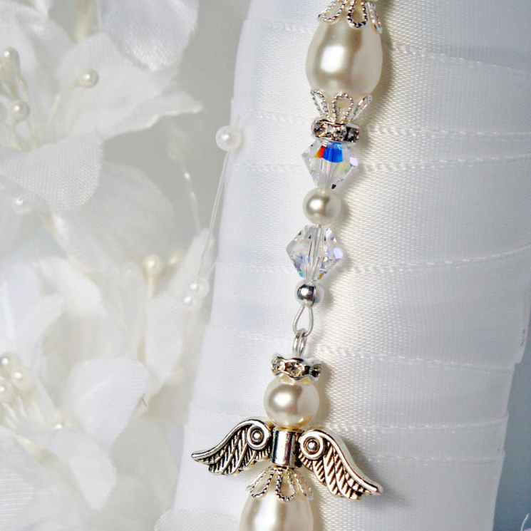 angel bridal bouquet charm