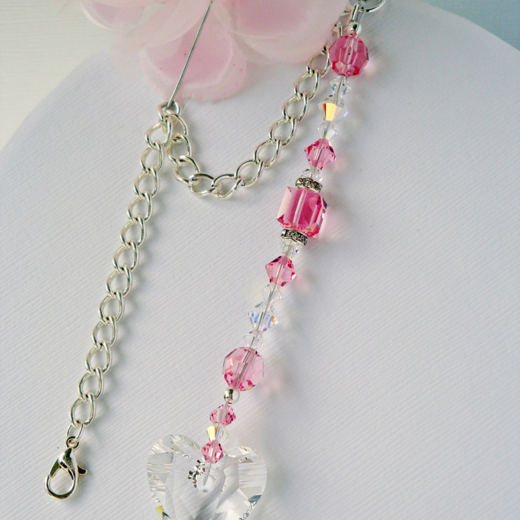 pink rearview mirror charm