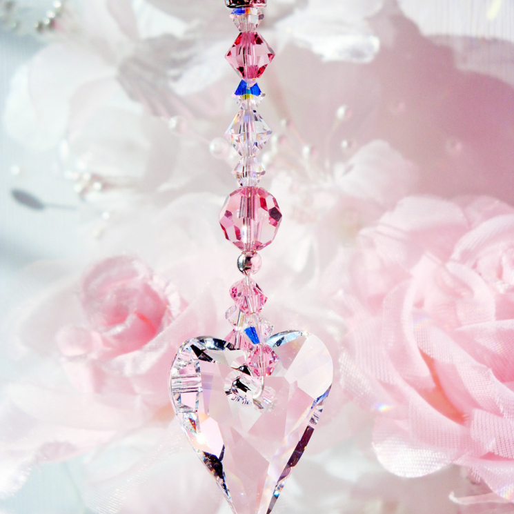 pink rear view mirror charm