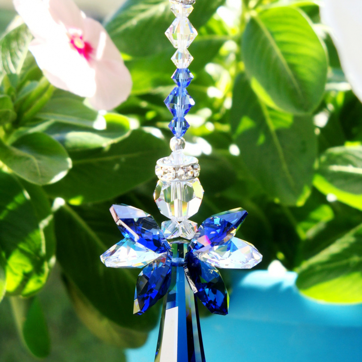swarovski crystal angel car charm