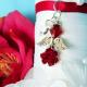 christmas wedding angel bouquet charm