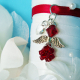 red bouquet charm