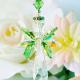 green swarovski crystal window suncatcher