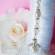 white angel wedding bouquet charm