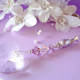 purple swarovski crystal and pearl fan pull chain