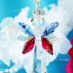 red white blue crystal suncatcher