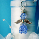 something blue angel bouquet charm
