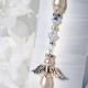 white wedding bouquet accessories