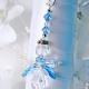 something blue wedding bouquet charm