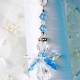 something blue bridal bouquet charm