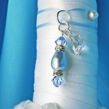 Swarovski Crystal Bridal Bouquet Charm