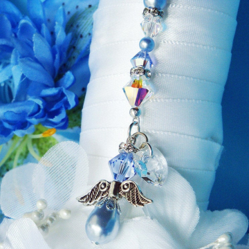 Something Blue Angel Bouquet Charm