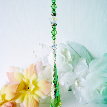 green rear view mirror charm