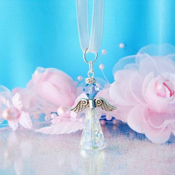 Swarovski Crystal Angel Bouquet Charm
