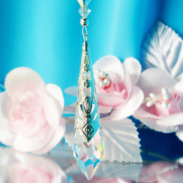 crystal car mirror charm