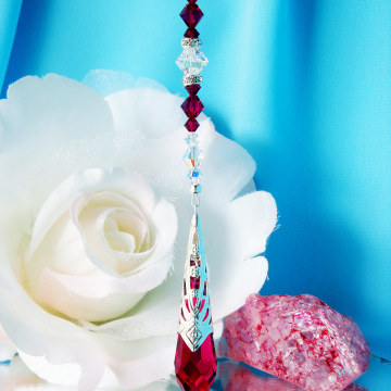 red rear view mirror charm