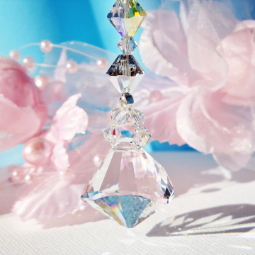 swarovski crystal rear view mirror charm