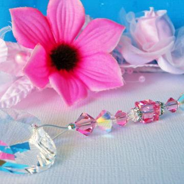 Pink Swarovski Crystal Ceiling Fan Pull Chain