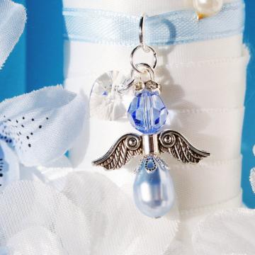 something blue angel wedding bouquet charm