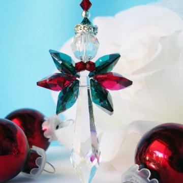 swarovski crystal angel ornament