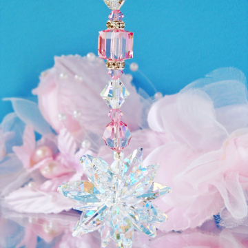crystal car charm