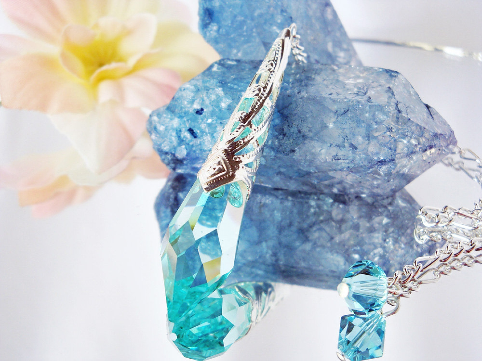 Crystal Pendulum Crystal Blue Designs