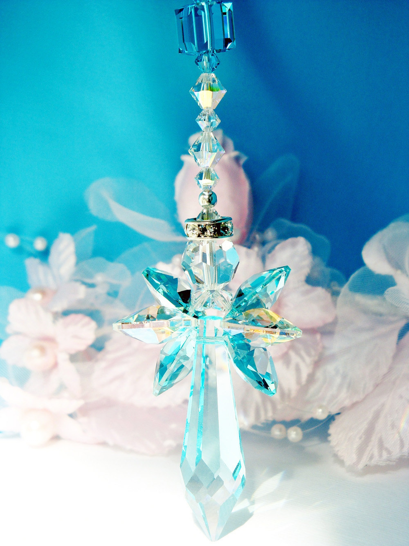 Crystal Angel Suncatcher Car Charm Crystal Blue Designs