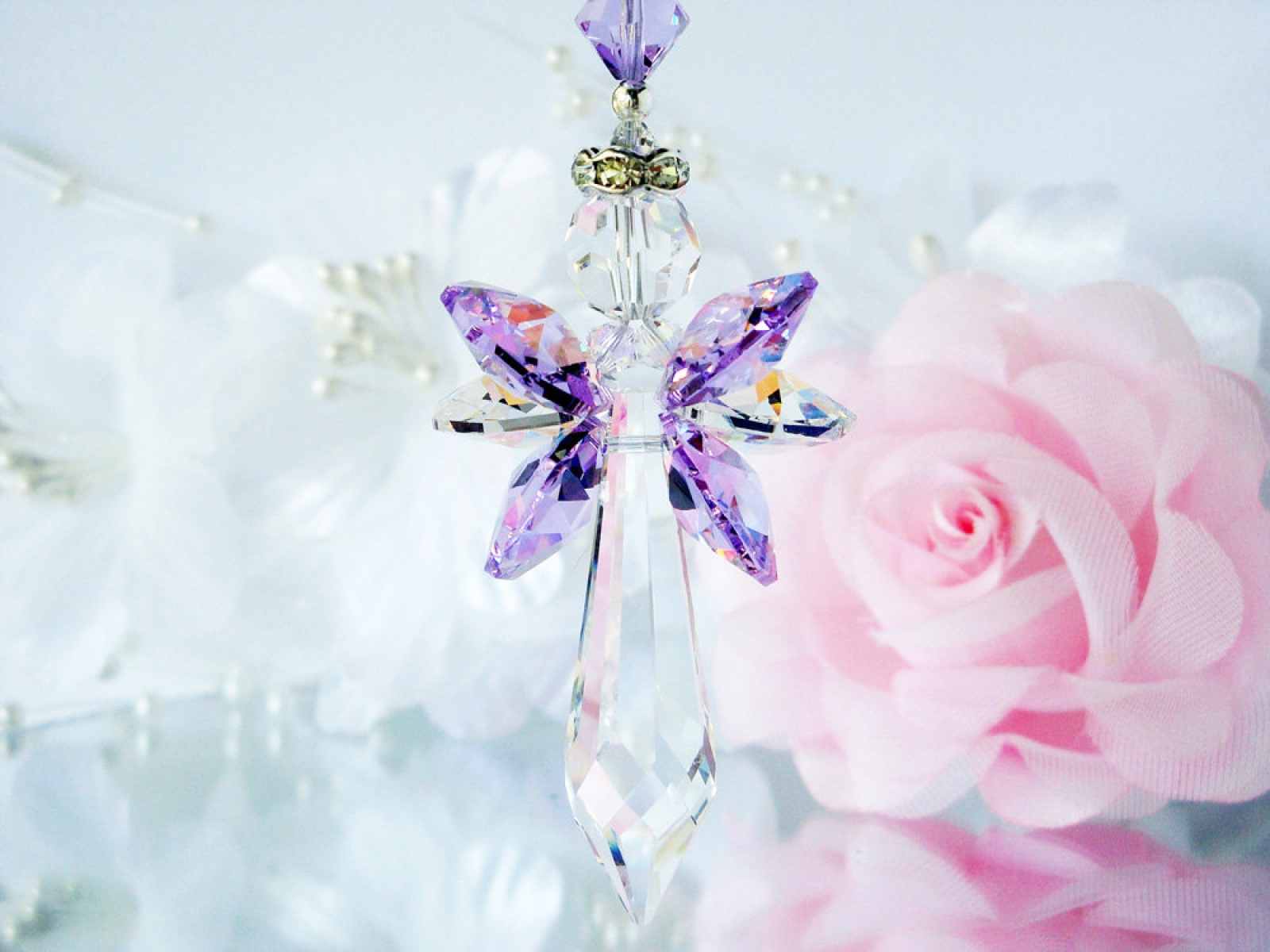Guardian Angel Suncatcher Crystal Blue Designs