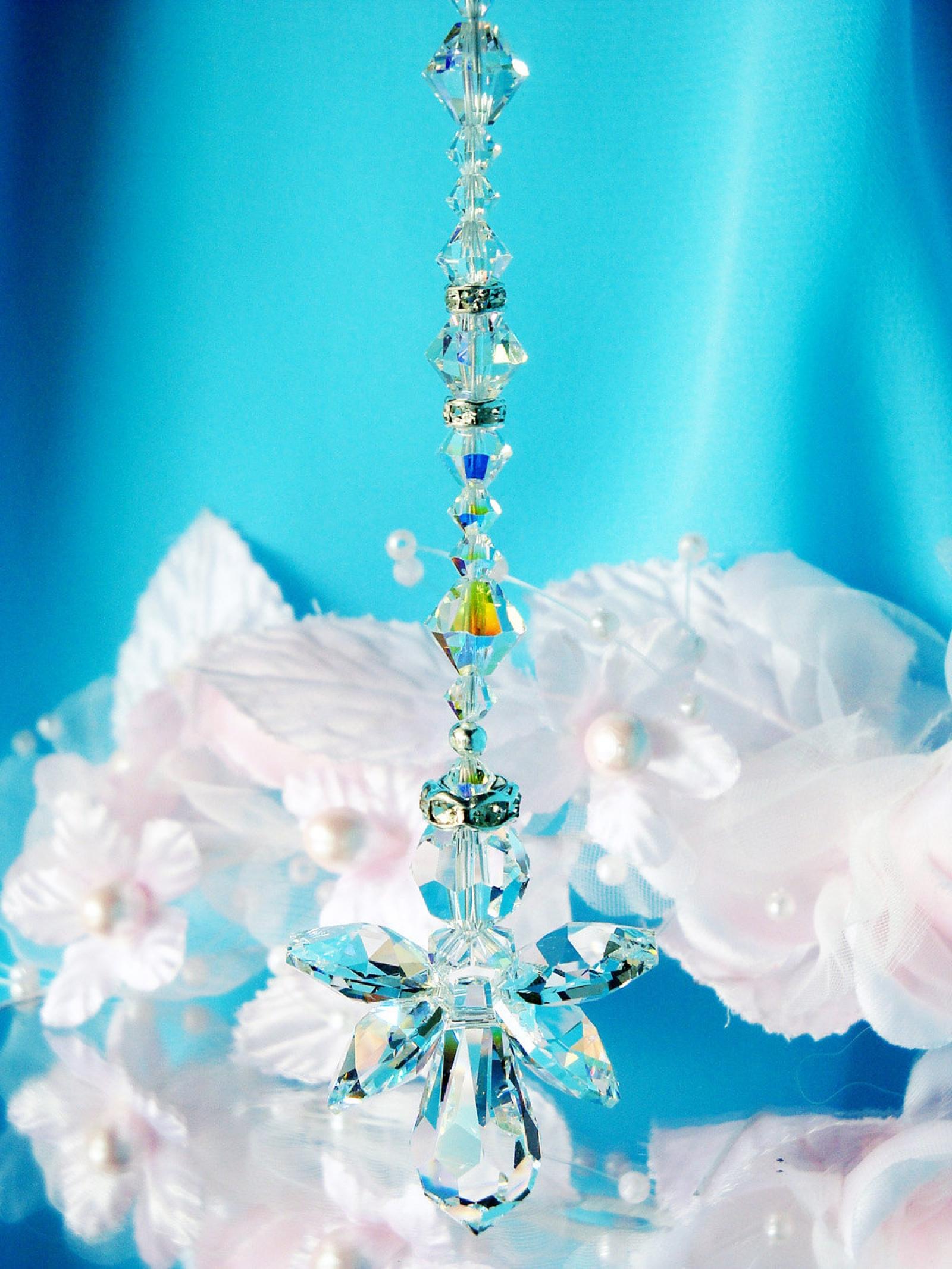 guardian angel rear view mirror charm car accessories