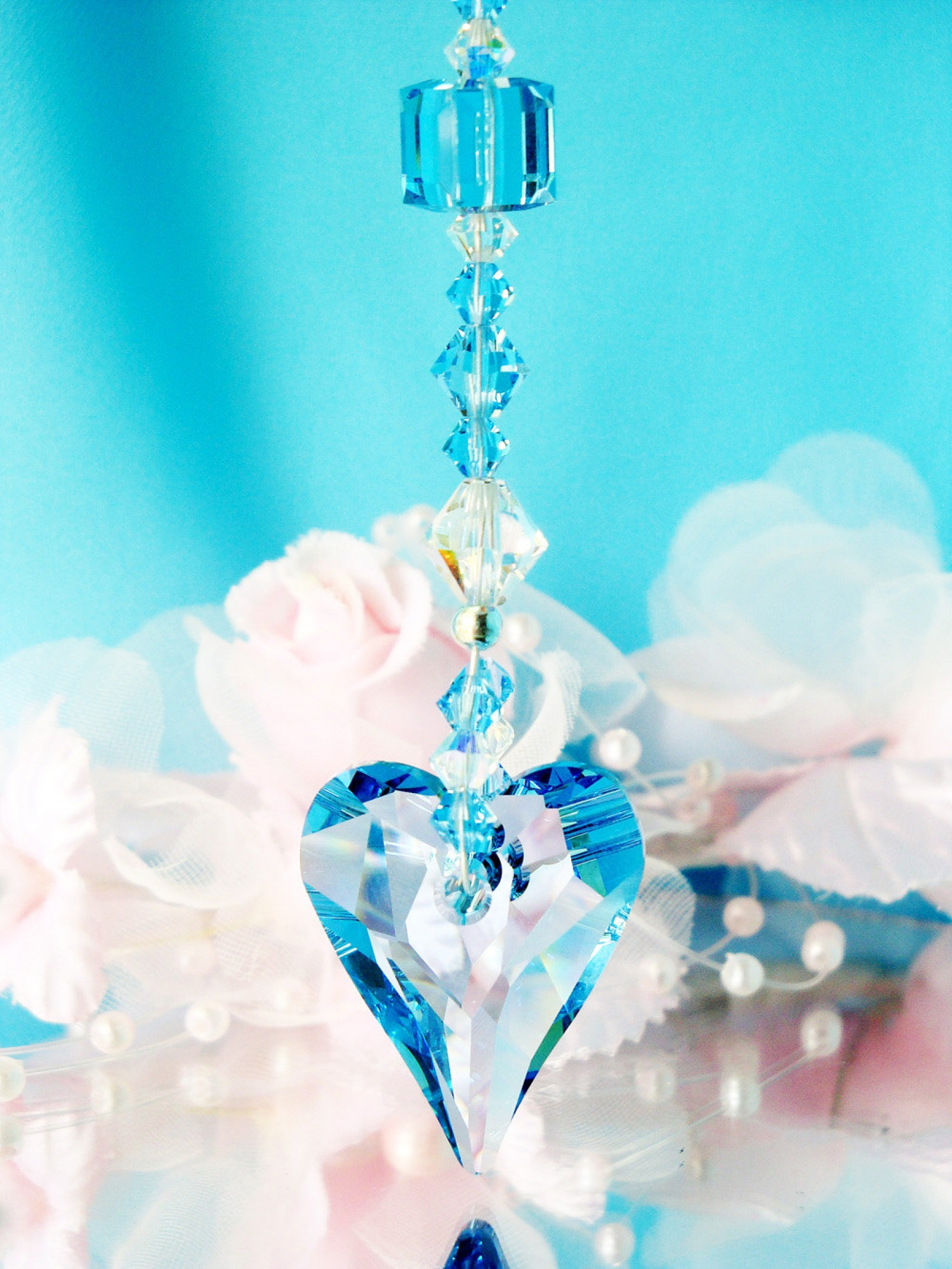 Swarovski Crystal Suncatcher Crystal Blue Designs