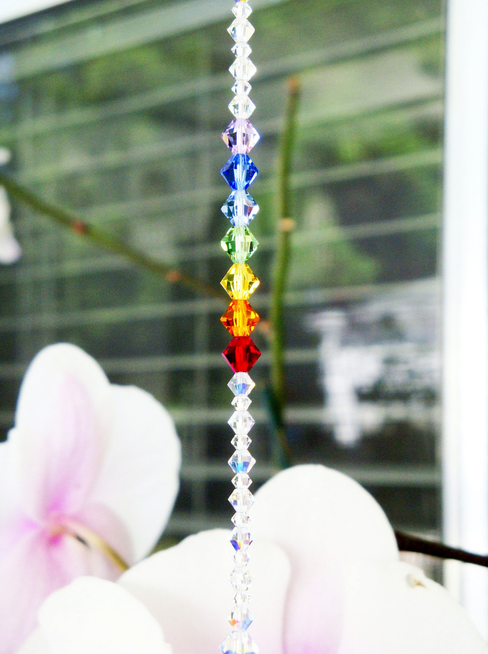 Crystal Suncatcher Chakra Feng Shui Decor Crystal Blue