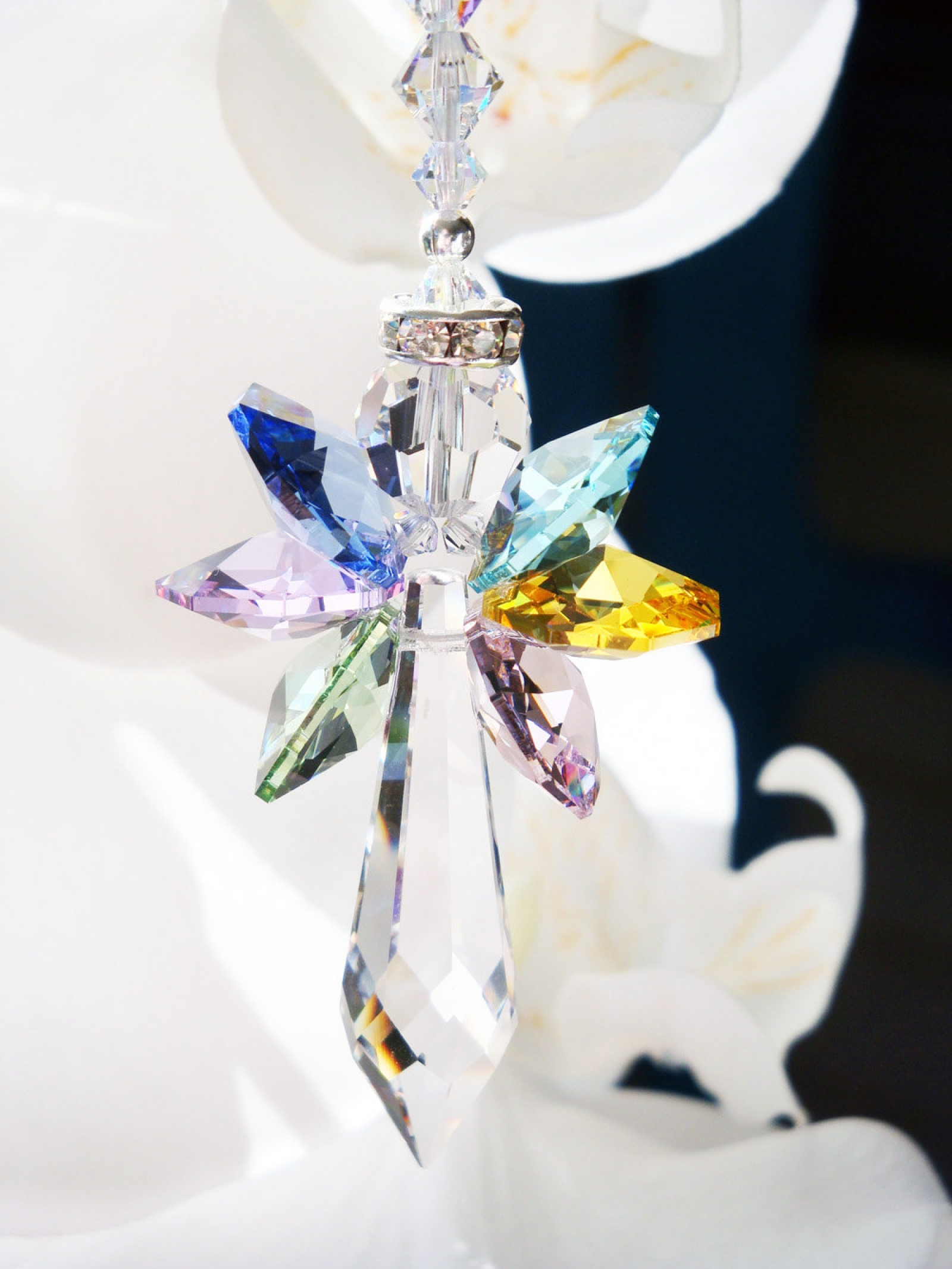 Rainbow Angel Suncatcher Swarovski Crystal Sun Catcher For