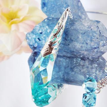 Crystal Pendulum, Dowsing Pendulum, Swarovski Crystal Divining Pendulum