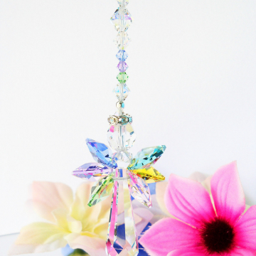 Swarovski Crystal Angel Rear View Mirror Charm