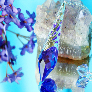 Crystal Pendulum Single Point Crystal Dowsing Pendulum