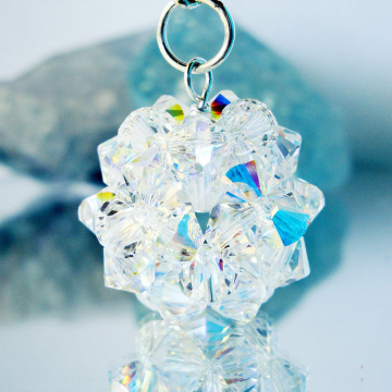 Swarovski Crystal Keychain, Crystal Ball Key Chains for Women