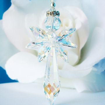 Crystal Angel Suncatcher Car Charm