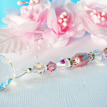 Ceiling Fan Pull Pink Purple Little Girls Room Swarovski Crystal Light Pull