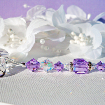 Ceiling Fan Pull Purple Swarovski Crystal Light Pulls