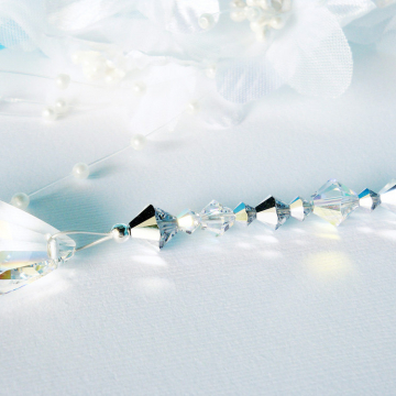 Ceiling Fan Pull Silver Swarovski Crystal Light Pull Silver