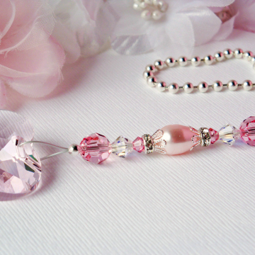 Pink Ceiling Fan Pull Chain, Swarovski Crystal Light Pull, Pink Nursery Decor, Baby Shower Gift